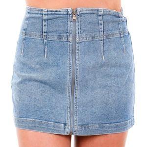🔥SALE🔥Free People🍃Virgo Mini jean pleated skirt